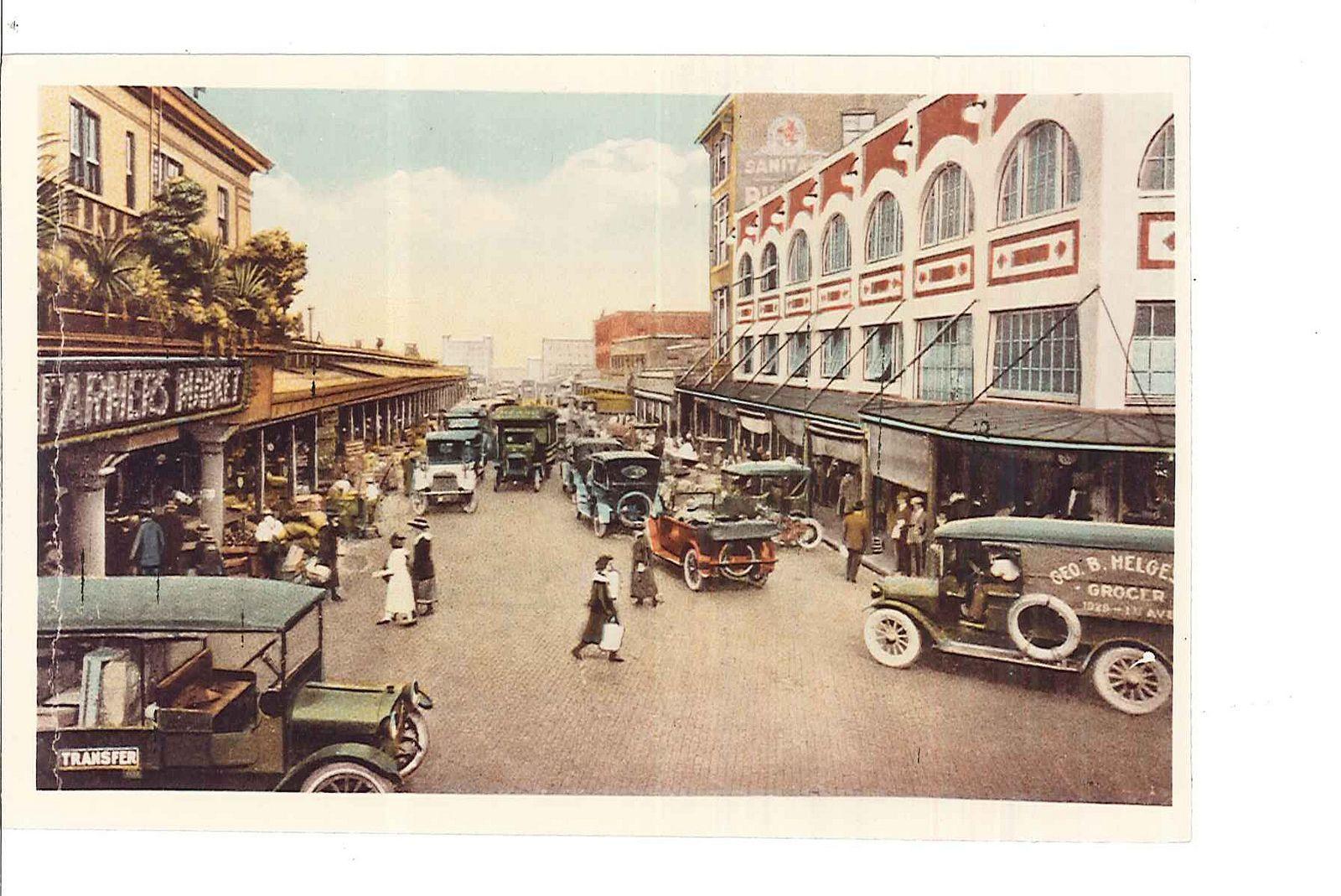 Pike Place Market circa 1913 Pike Place