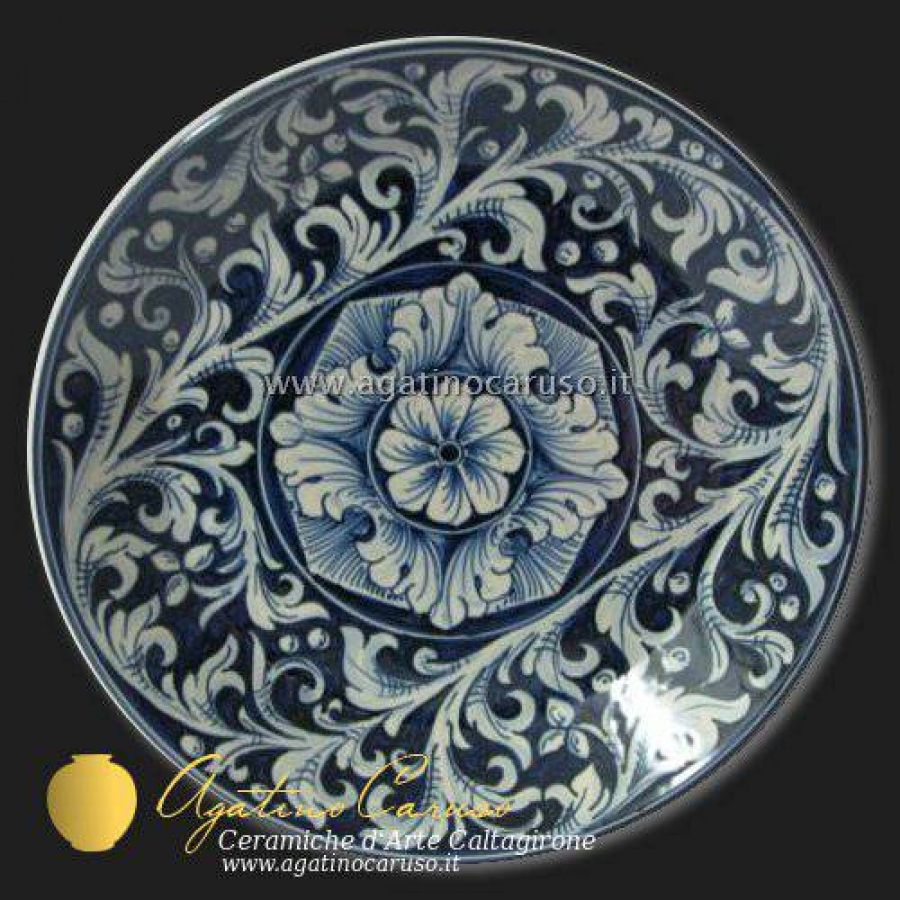 Piatti Ceramica Di Caltagirone.Piatti Decorati In Ceramica Di Caltagirone Dipinti A Mano Ornato