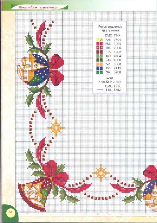 mantel de navidad | cross stic | Pinterest | Punto de cruz navidad ...