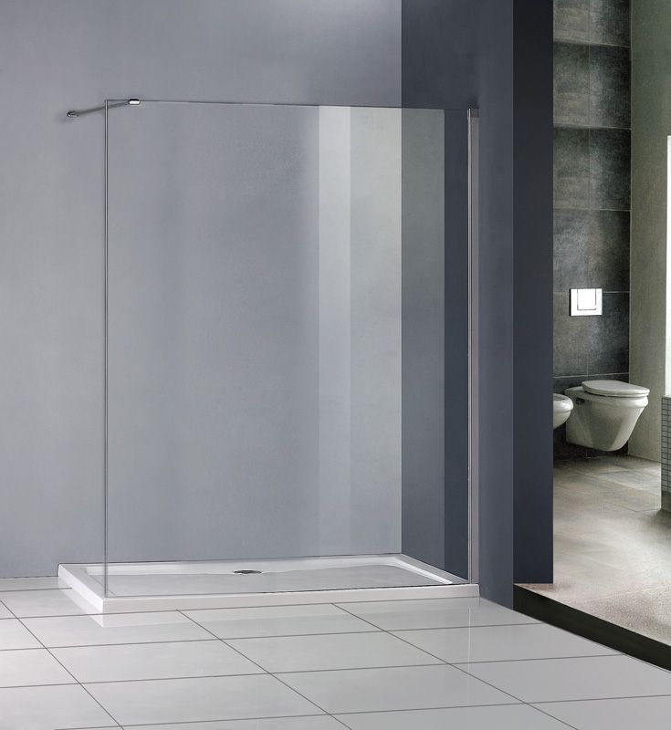 1200x800mm Walk In Shower Enclosure + Stone Tray Easyclean glass ...