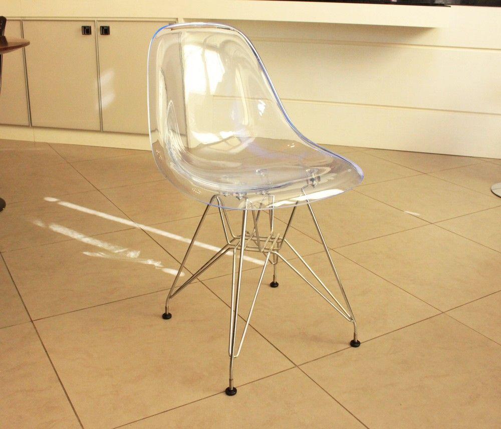 Cadeira Eames Dsr Cores Transparentes Eames Policarbonato E