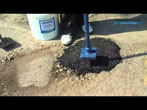 Drive Fill Instant Pothole Repair Video Repair Potholes In Minutes Repair Repair Videos Filling
