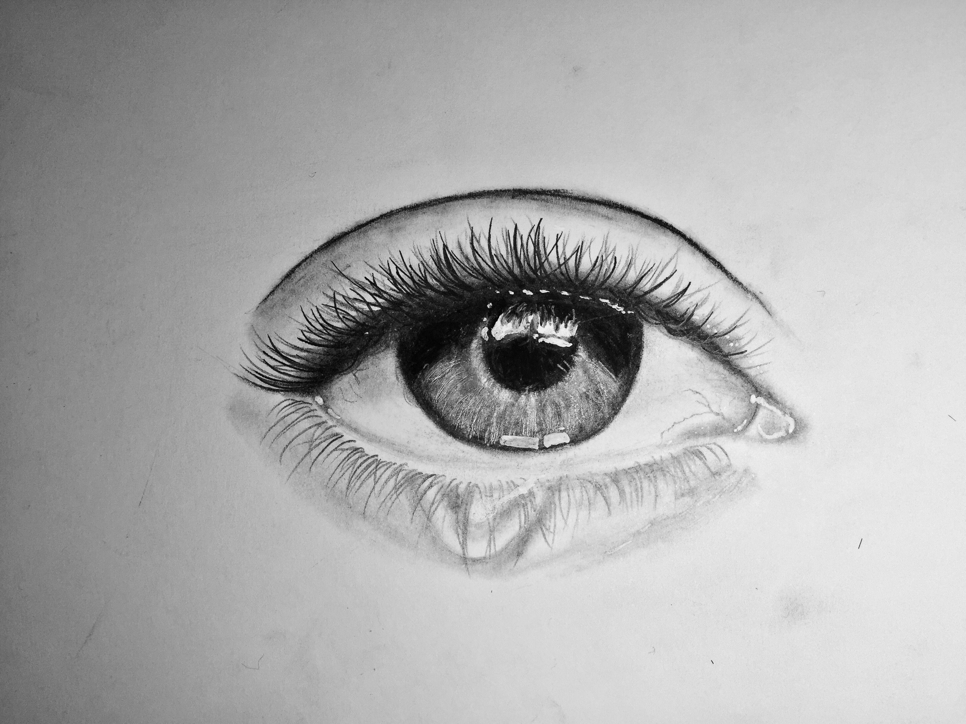 Eye crying right Drawing art Pinterest Drawing art