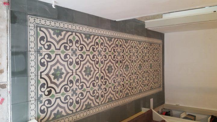 Badkamertegels Met Motief : Portugese tegels agadir deze cementtegel met zijn groene nuances