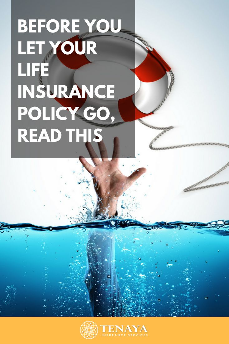 Before You Let Your Life Insurance Policy Go . . . Read ...