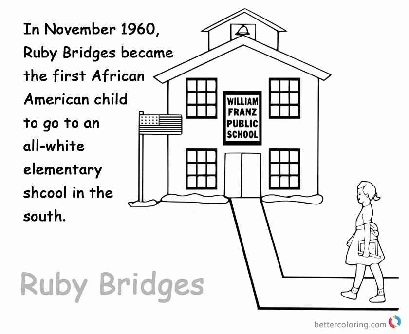 32 Ruby Bridges Coloring Page Coloring Pages Inspirational Ruby