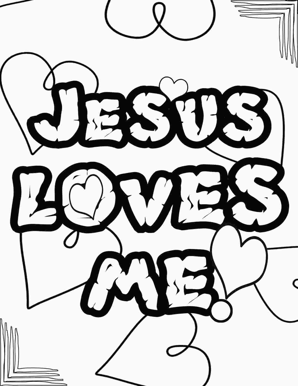 Coloring Preschool Jesus Loves Me Love Coloring Pages Jesus