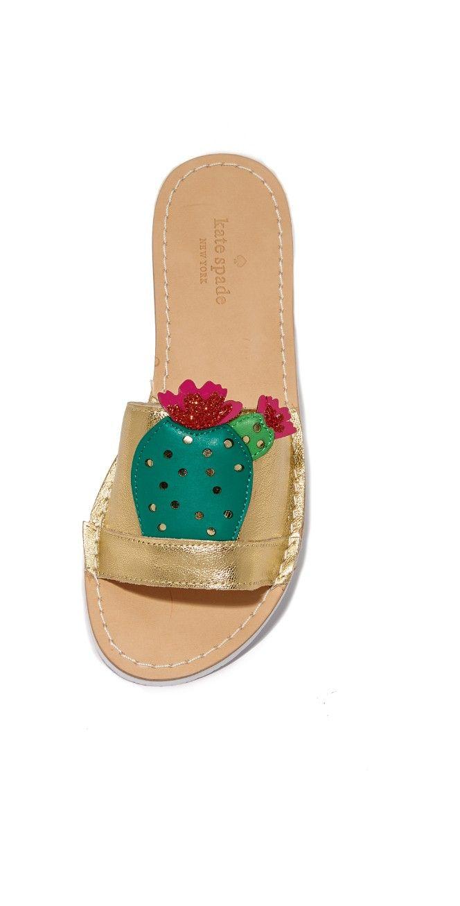 9ed3922b1c6e Kate Spade New York Iguana Cactus Slides