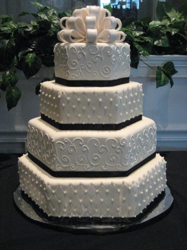Wilton Wedding Cake Accessories | Wilton Beautiful 4 Tier Hexagon Wedding  Cake Tin Pan Set