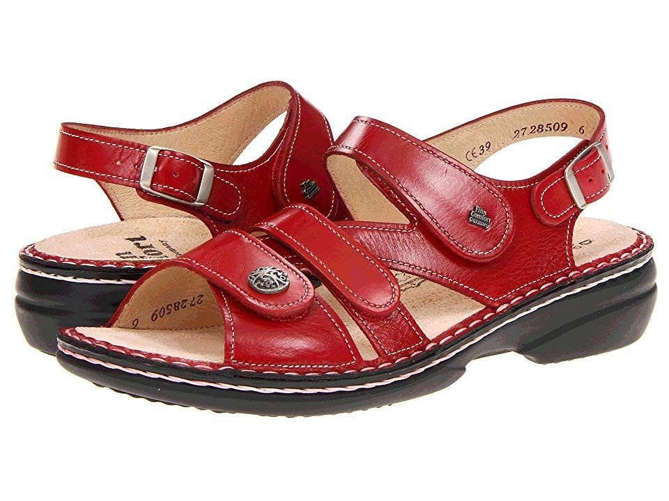 Finn Comfort Gomera 82562 Red Women S Sandals The Gomera 82562 Features The Finn Comfort Soft Footbed Which P Finn Comfort Womens Sandals Casual Sandals