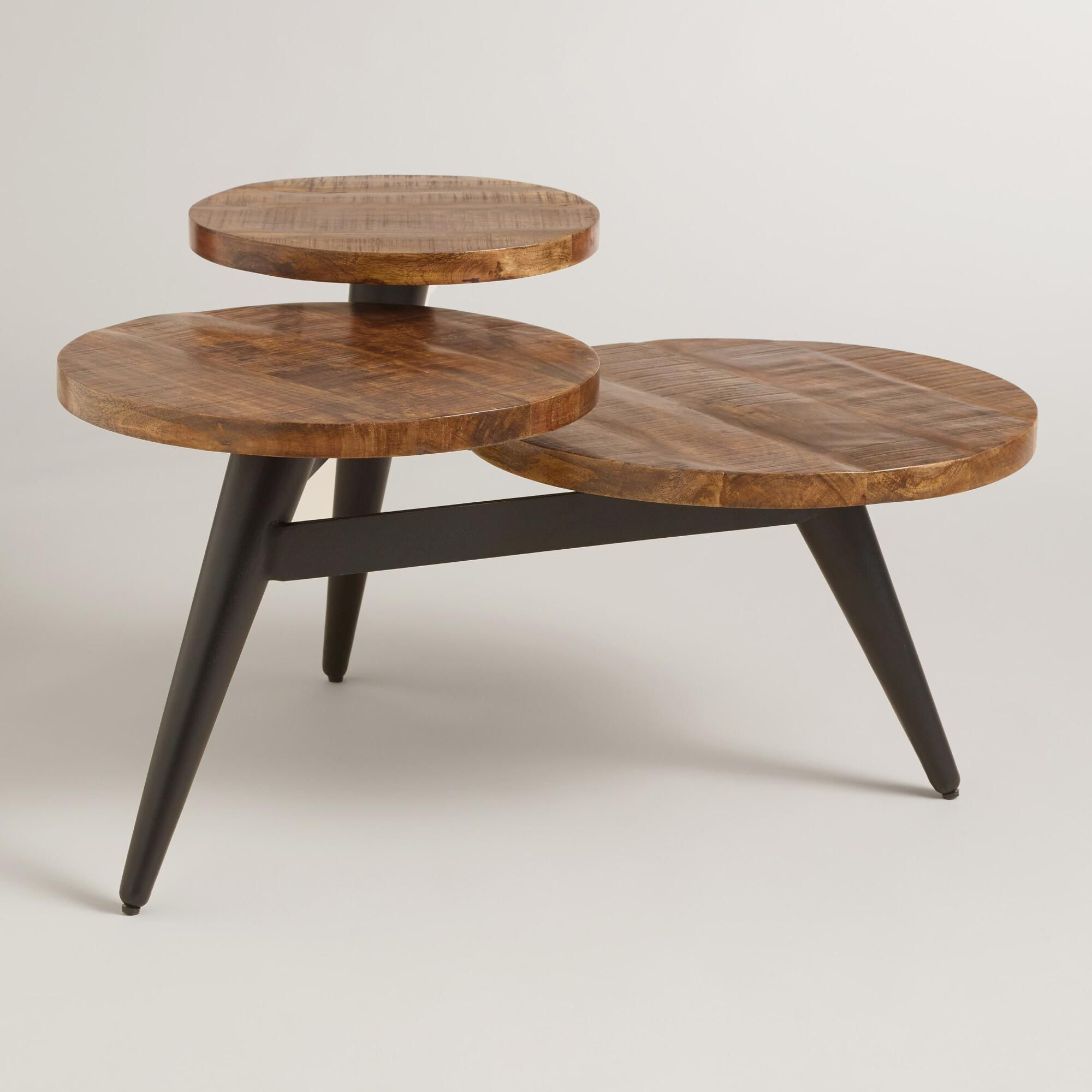 A Standout Statement Piece Our Three Tier Coffee Table Features Unique Black
