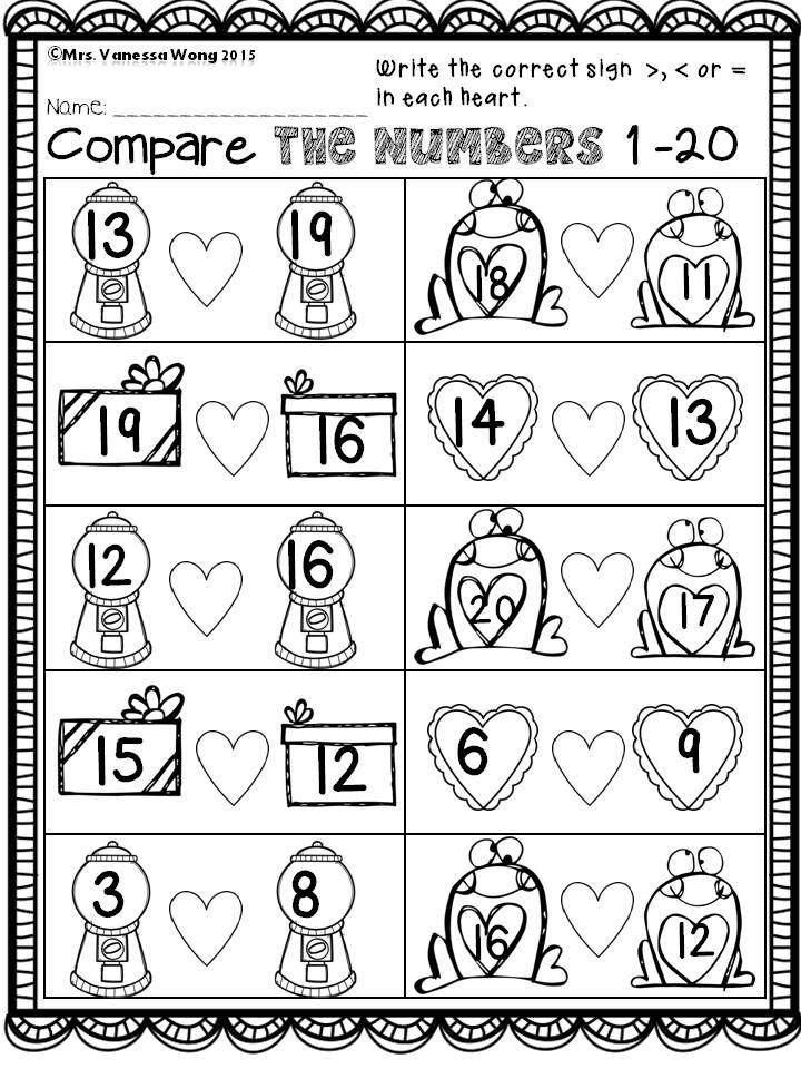 Großartig Valentine Kindergärten Arbeitsblatt Fotos - Mathe ...