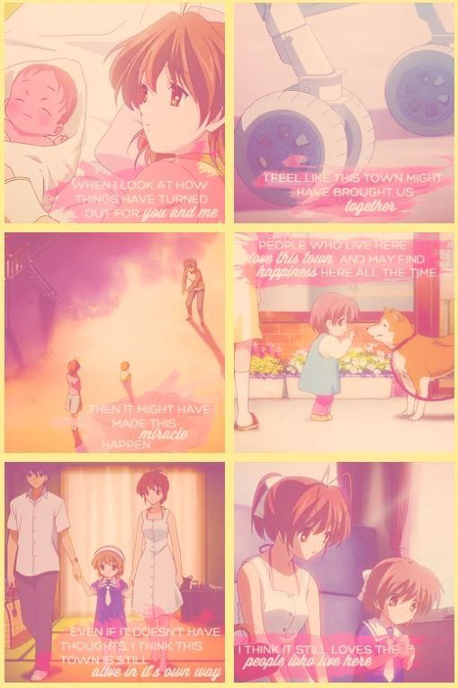 Clannad<<< It got so damn sad... then better in spite of the sadness... then horrifically sad... then the ending we all wanted.