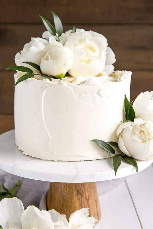 22 Pretty Single Layer Wedding Cakes For 2020 Trends Page 2 Of 2
