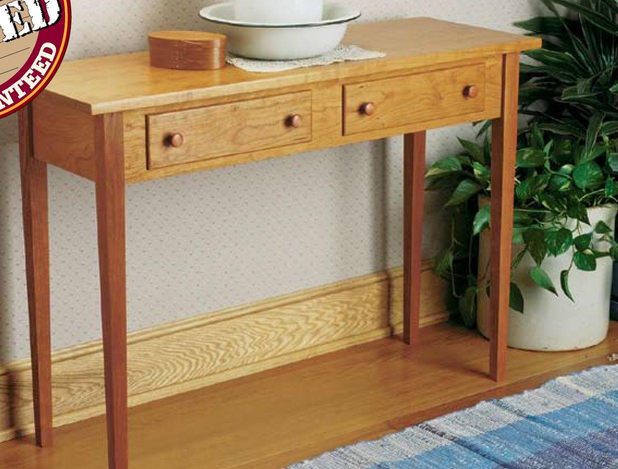 Mobili Shaker ~ Shaker hall table woodsmith plans woodsmith plans