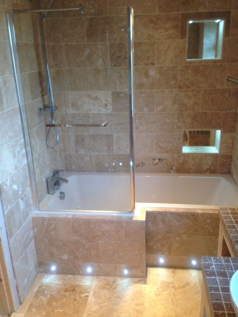 We Love The Brown Granite Tiling Alongside The Bath Panel It Really Completes This Bathroom Bytom From Gr Bathroom Design Small Bathroom Design Small Bathroom