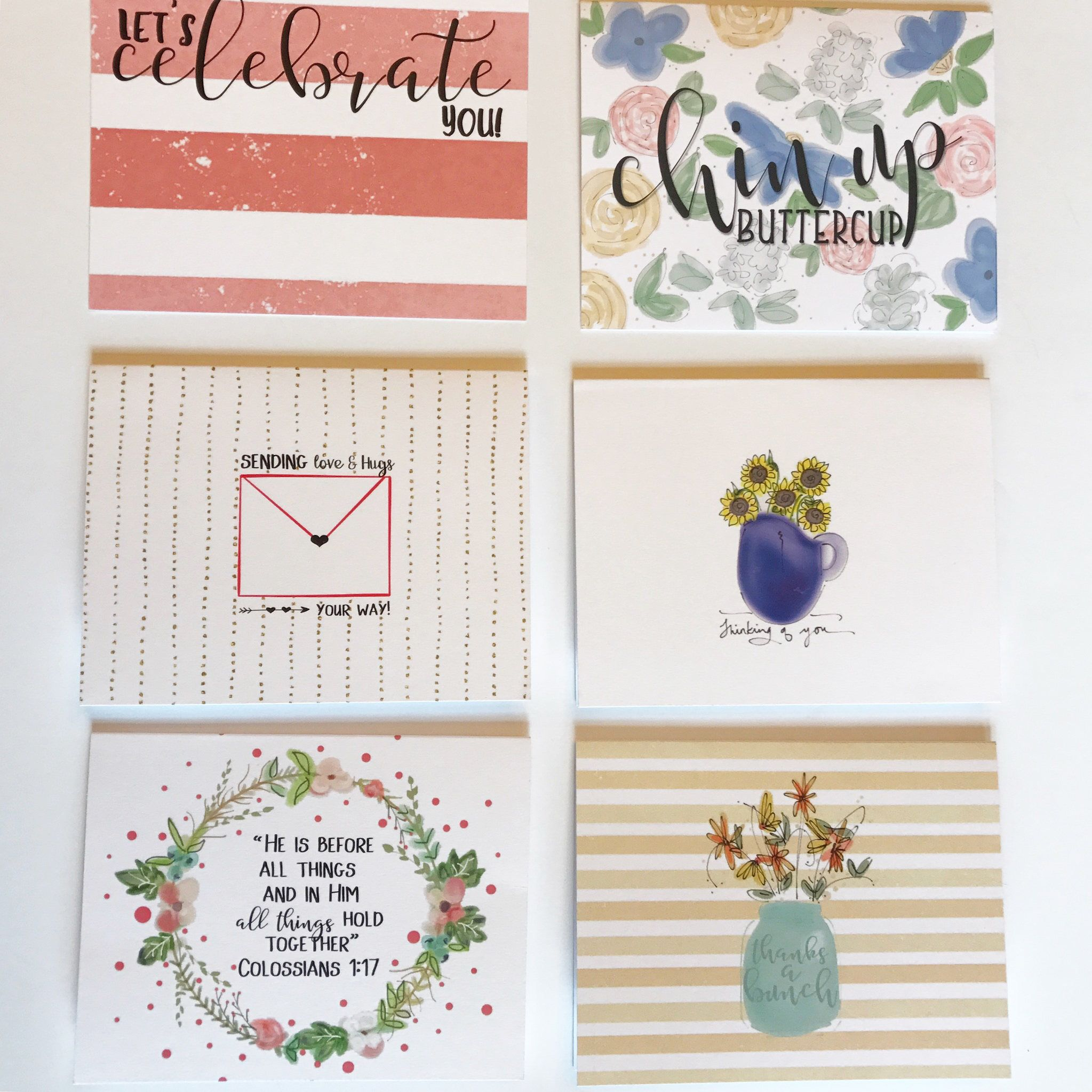 Greeting Card Set Of 12 Custom Note Cards Folded Greeting Cards Hand