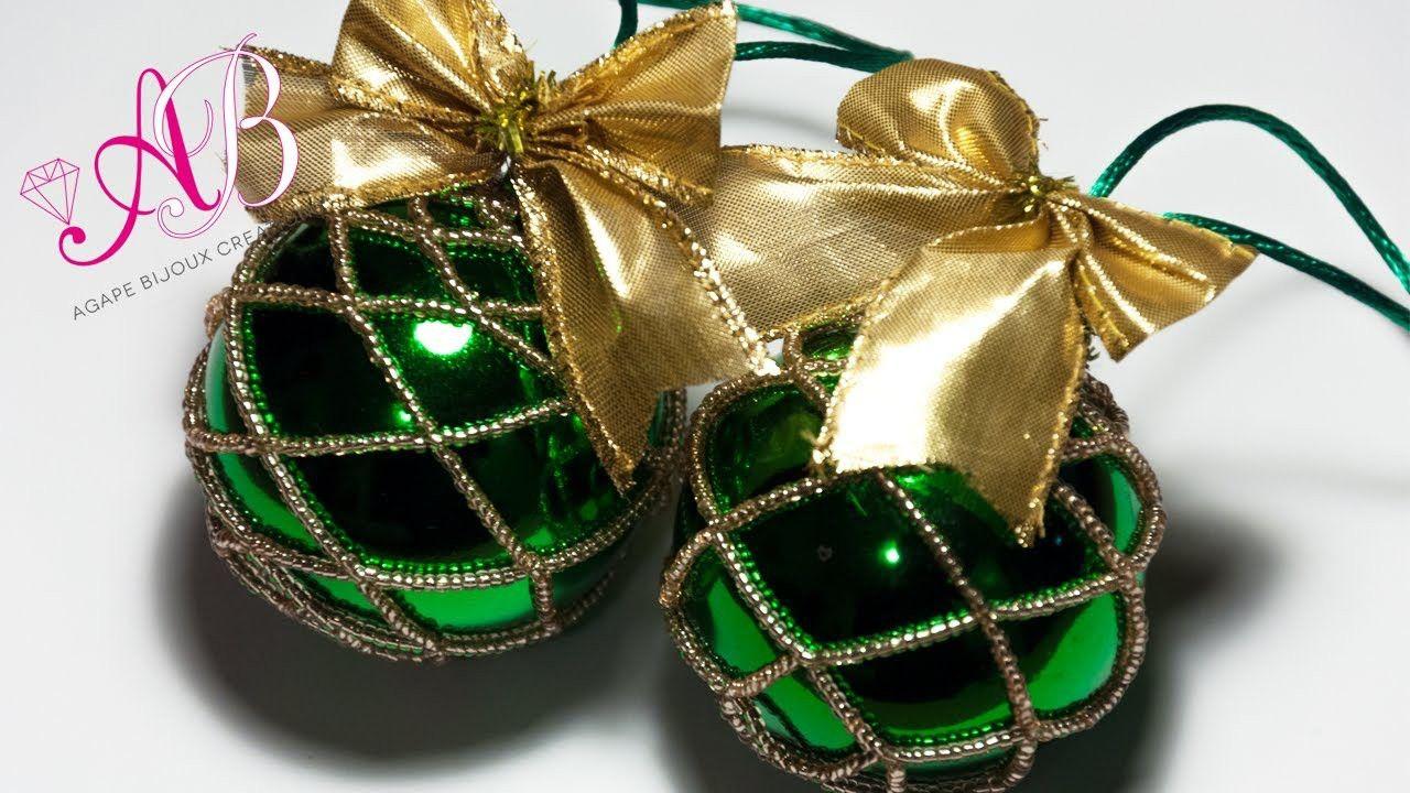 DIY Tutorial   Come rivestire una pallina di Natale con perline di conteria