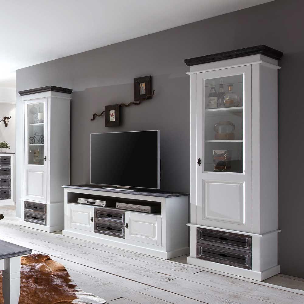 wohnzimmerschränke in grau  seitenschrank boulogne in