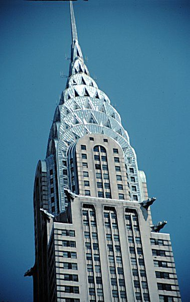 Famous Example Of Art Deco Architecture Chrysler Building Built