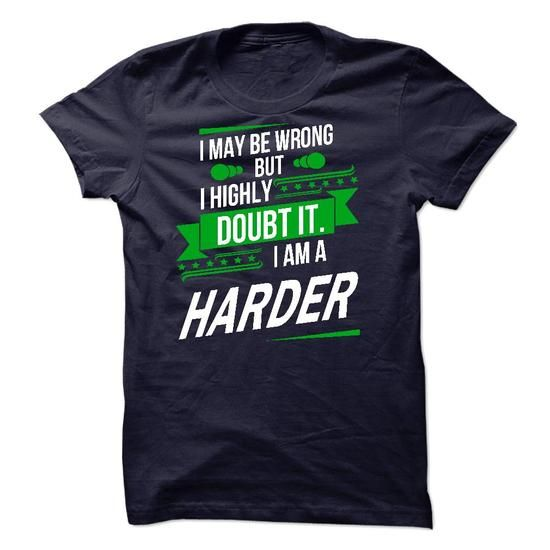 Its a HARDER Thing Strong name 2015 - #gifts #food gift. THE BEST => https://www.sunfrog.com/Names/Its-a-HARDER-Thing-Strong-name-2015.html?68278