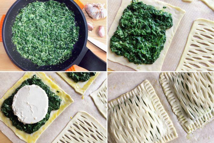Hojaldre De Espinacas Y Queso De Cabra Receta My Cooking Experiences Receta Queso De Cabra Hojaldres Espinacas