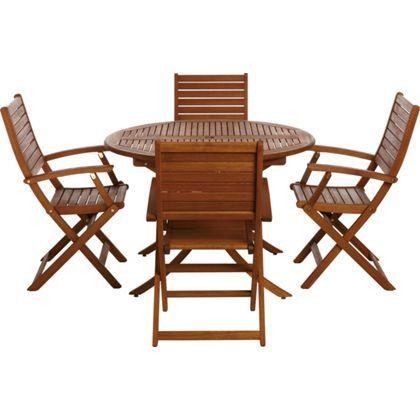 Peru 4 Seater Round Garden Furniture Set with Armchairs Household