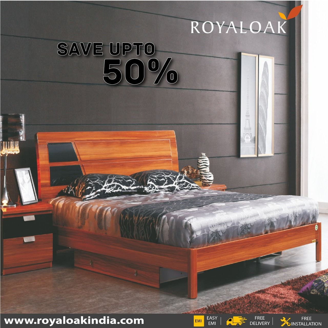 Pin By Royaloak Furniture On Royaloak King Beds With Images