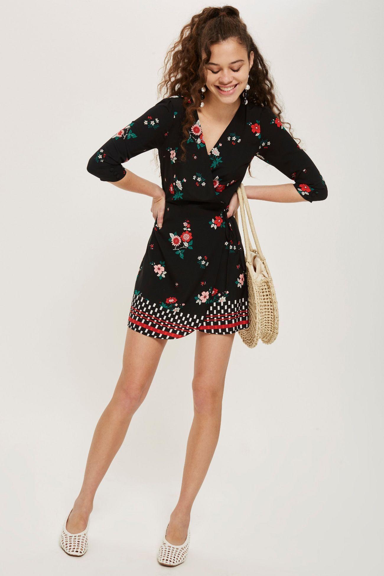 Floral mini wrap dress mini wrap dress top shop dress