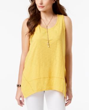 Style Co Handkerchief Hem Tank Top Created For Macy S Yellow