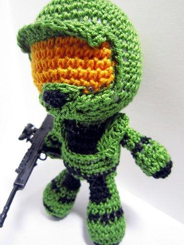 halo crochet | Master Chief: Halo Crochet Doll | deadcraft - Dolls & Miniatures on ...