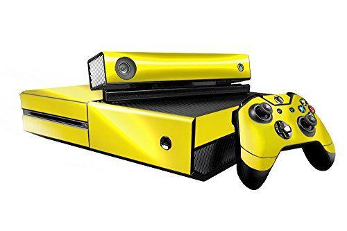 Microsoft Xbox One Skin Xb1 New Yellow Chrome Mirror System Skins