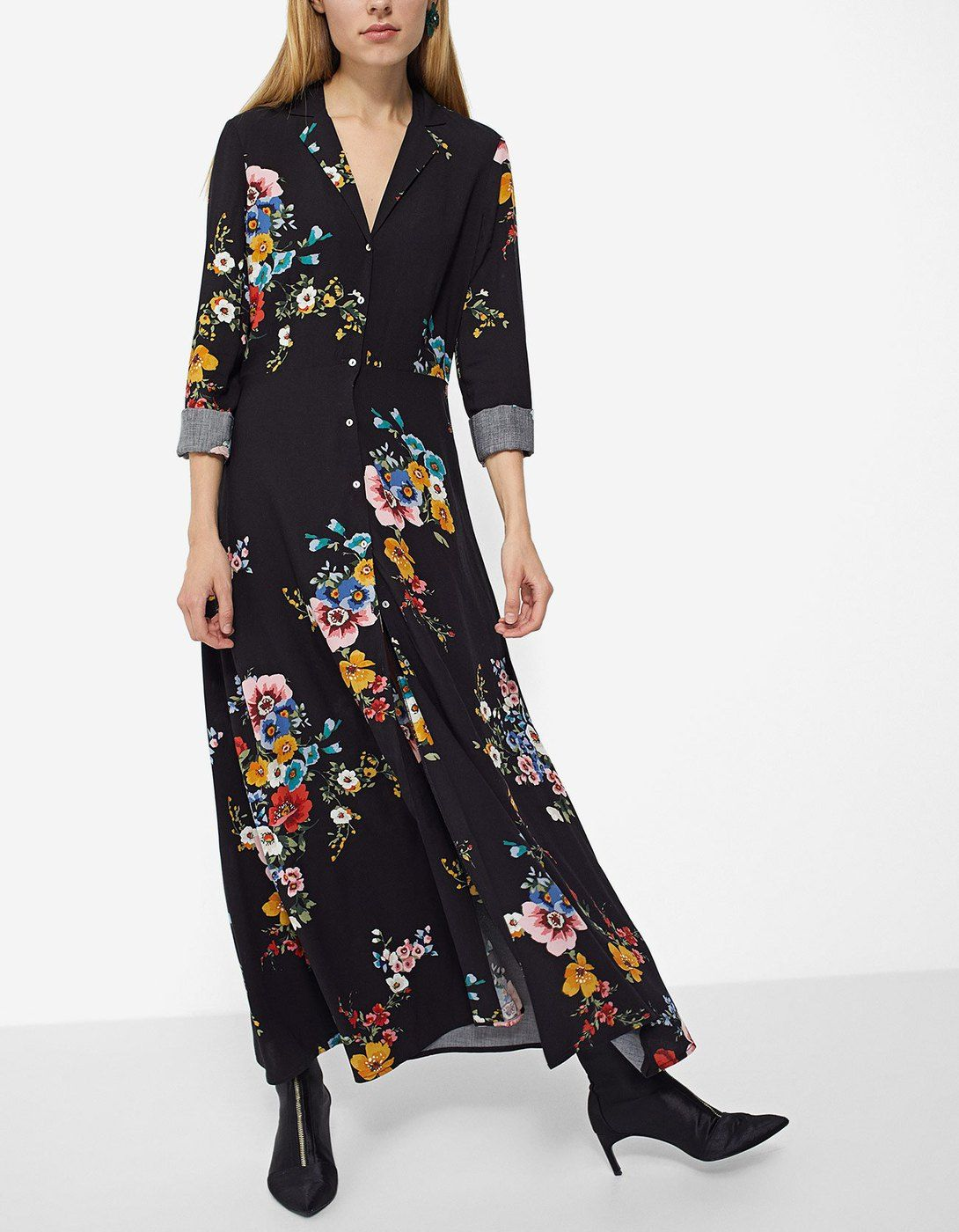 46fb16f697 At Stradivarius you ll find 1 Vestido camisero flores largo for just 699  Mexico . Visit now to discover this and more Vestidos.