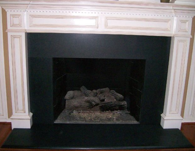 Absolute Black Granite Fireplace, Black Granite Tile Fireplace Surround