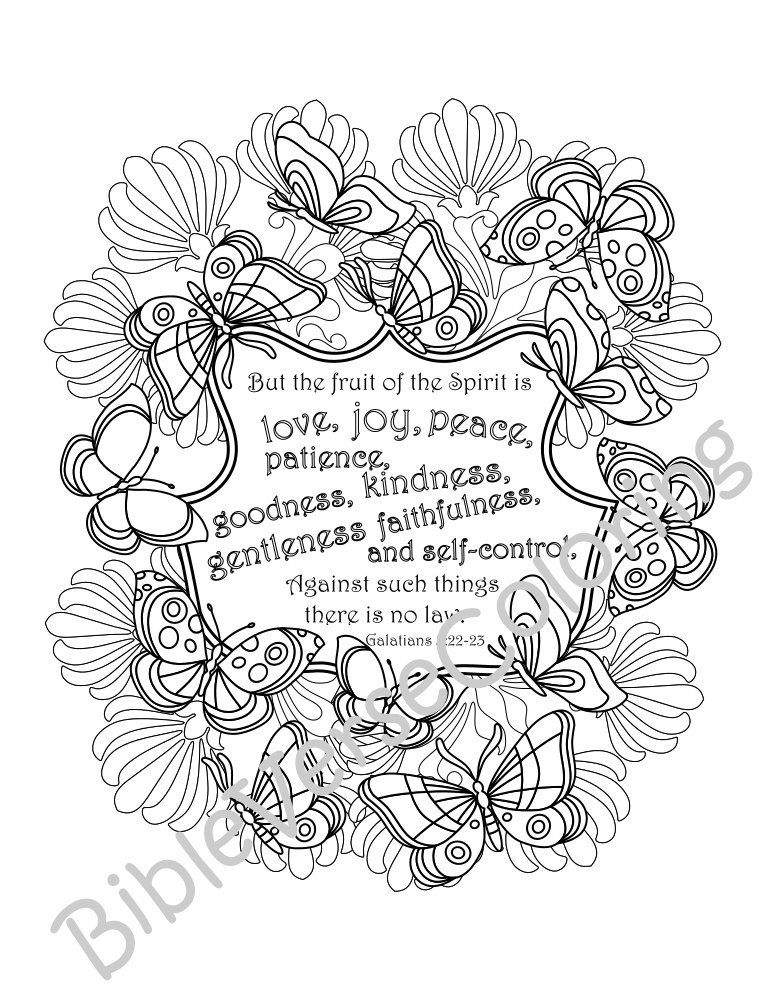5 Bible Verse Coloring Pages Inspirational Quotes DIY ...