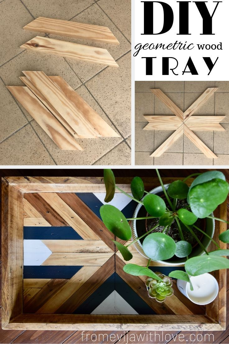 Photo of DIY – Decorative Geometric Wood Tray – From Evija with Love