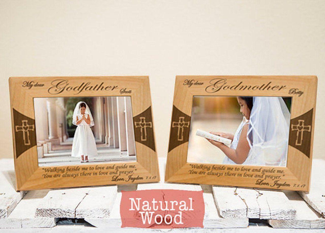 Godparents Frames Set - Personalized Godparents Gifts - Godparents ...