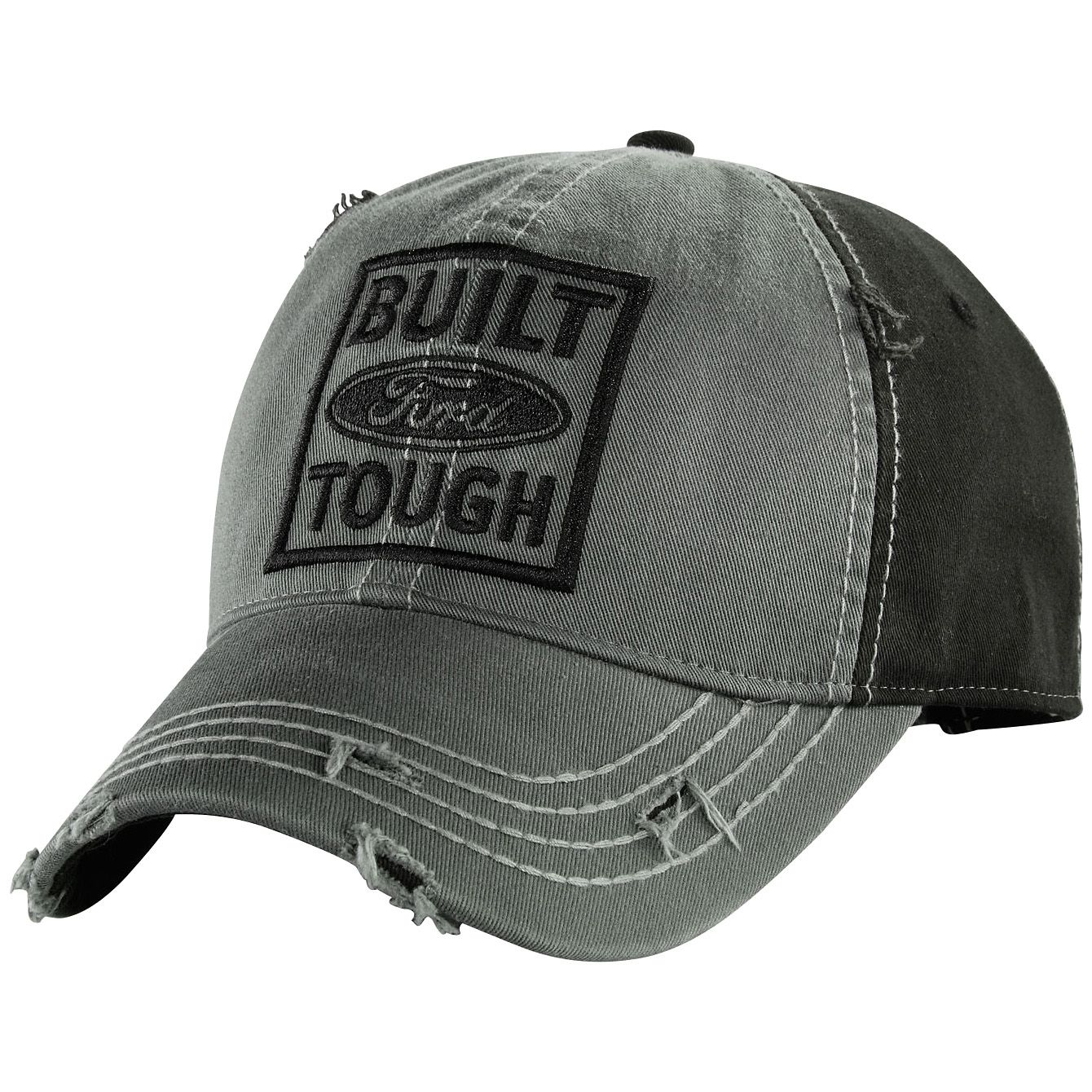 Built Ford Tough Grey Distressed Cap  9bf2494de49