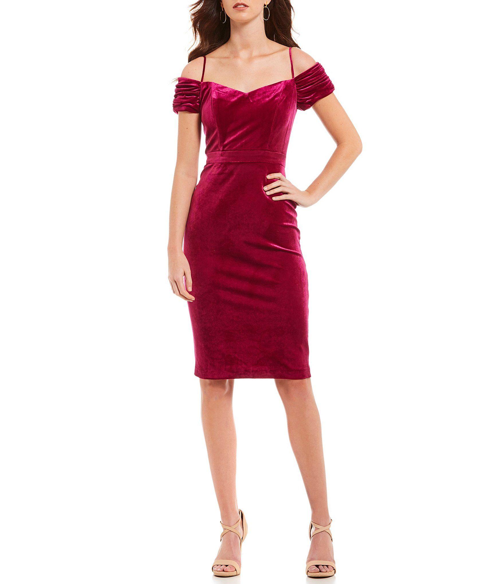 d7bb4400943 Lauren Ralph Lauren Off-the-Shoulder Tiered Ruffle Sleeve Crepe Sheath Dress