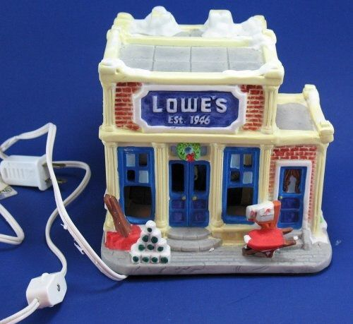 50th anniversary lowes lighted village store building 1996 limited edition christmas villages 50th anniversary - Lowes Christmas Village