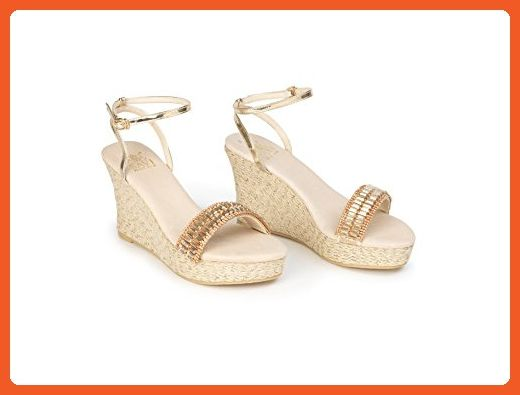 Savi Helena Jute Wedge High Gold 11 Gold Sandals for women