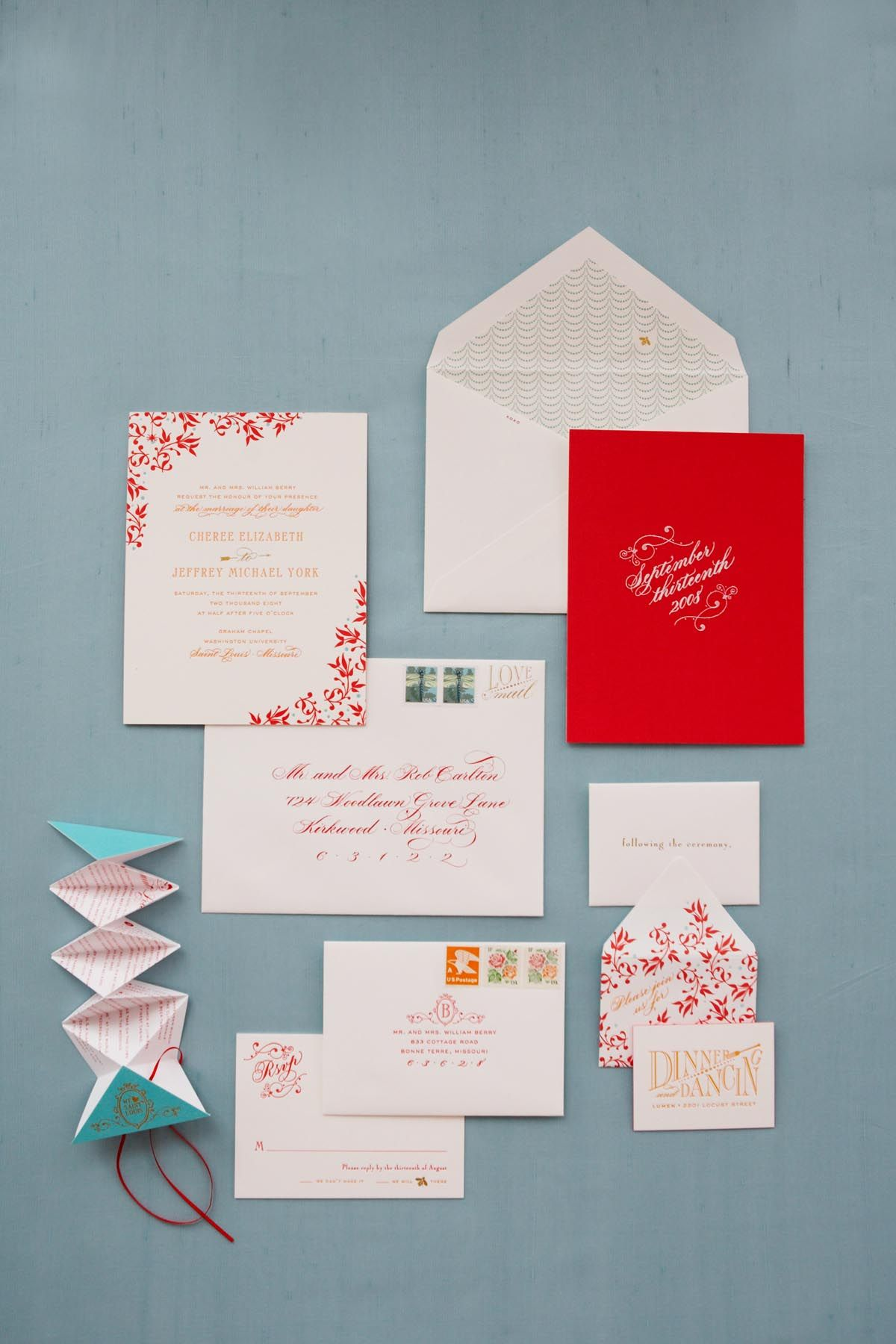 Modern Wedding Invitation Envelope Ideas Ornament - Invitations ...