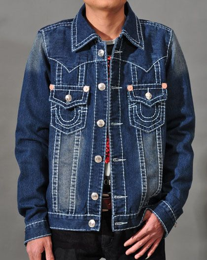 mens true religion denim jacket immediate fashion. Black Bedroom Furniture Sets. Home Design Ideas