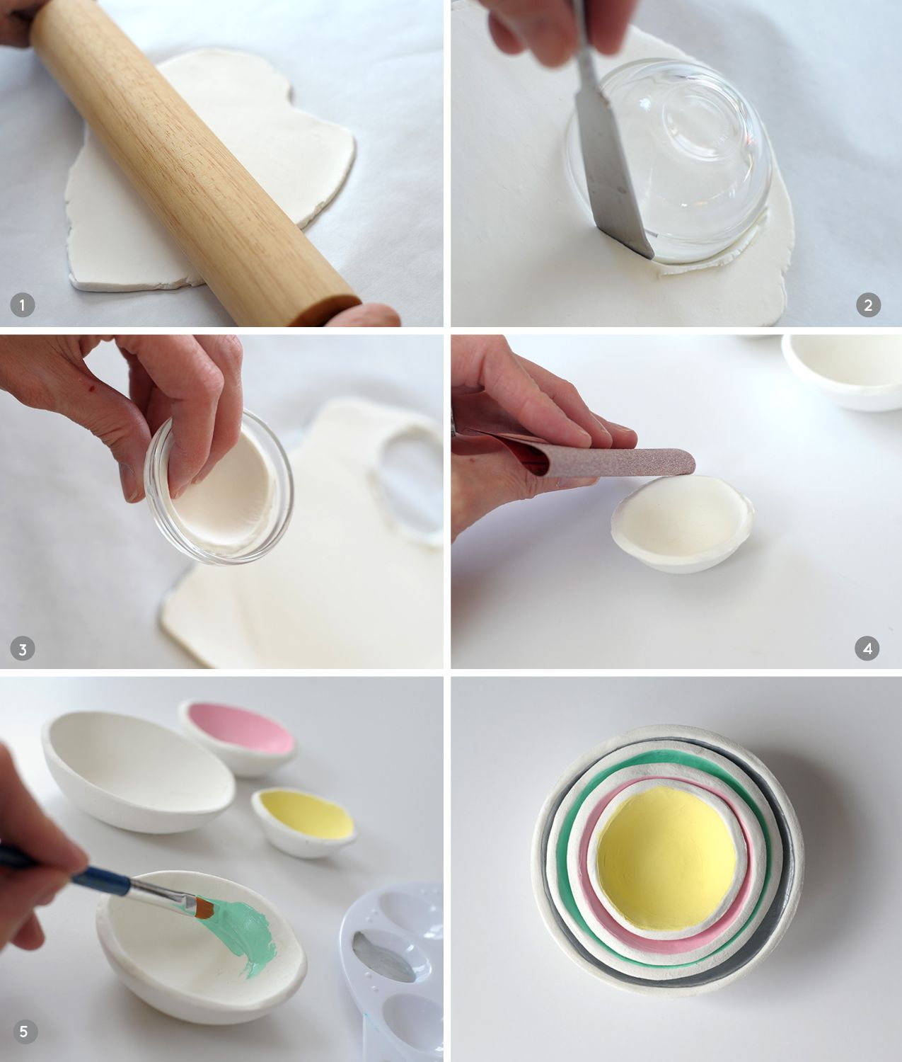 DIY Air Dry Clay Jewelry Bowls Diy air dry clay, Air dry