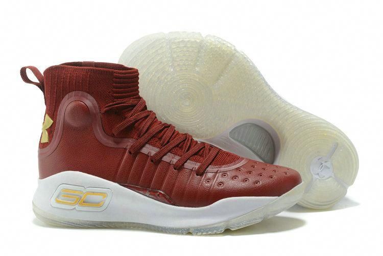 65f7145fdebb 2018 Fashion Under Armour Curry 4 Wine Red White Stephen Curry Basketball  Shoe For Sale  basketballshoessale