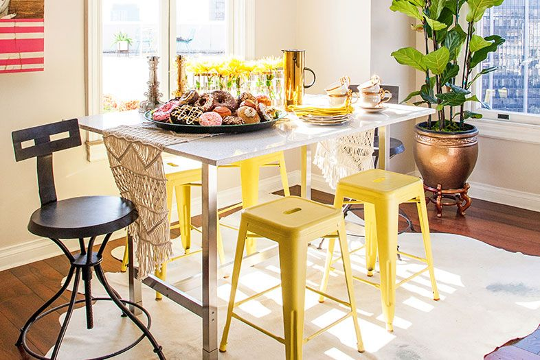 Home: Little Space, Big Style | Ikea table, Terrazzo and San diego