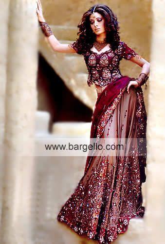Pakistani Designer Lengha Heavily Embellished Lehenga