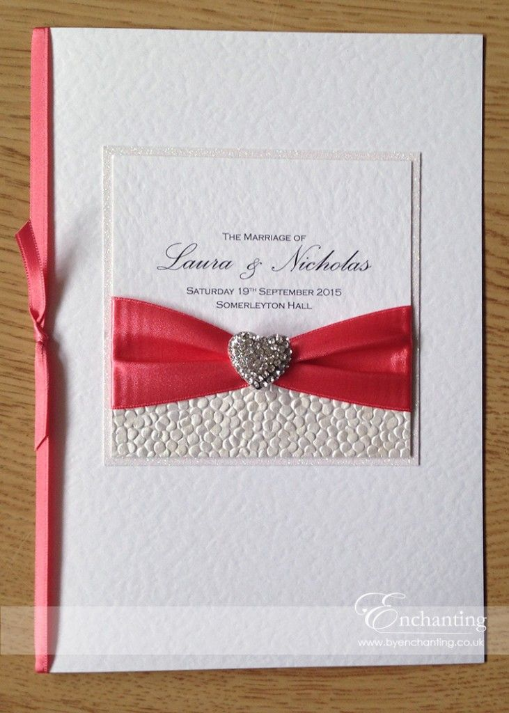 Coral Wedding Stationery | The Ariel Collection - Luxury Order of ...