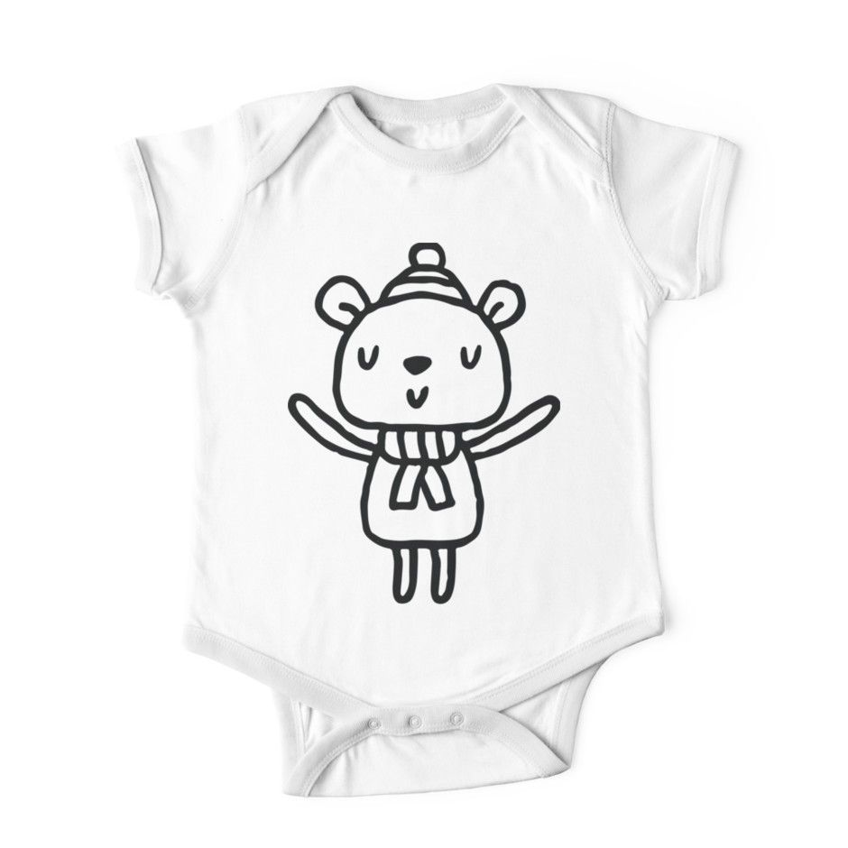 Bear Outline Baby One Piece Baby Shower Ideas Bunny