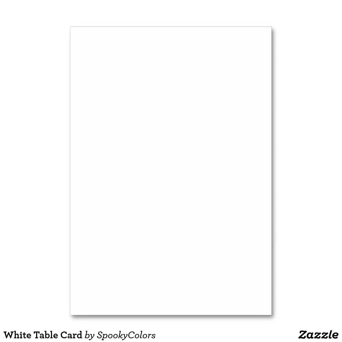 White Table Card Zazzle Com Custom Bingo Cards Table Cards